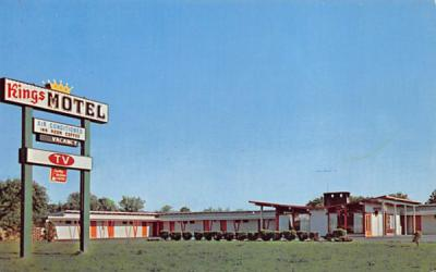 King's Motel Somerville, New Jersey Postcard