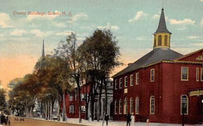 County Buildings Salem, New Jersey Postcard