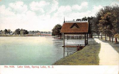 Lake Walk Spring Lake, New Jersey Postcard
