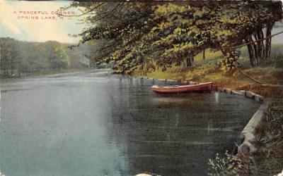 A Peaceful Corner Spring Lake, New Jersey Postcard