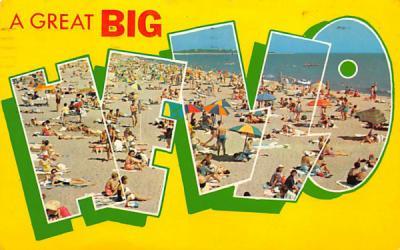 A Great Big Hello Surf City, New Jersey Postcard