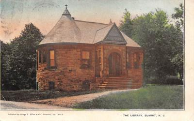 The Library Summit, New Jersey Postcard