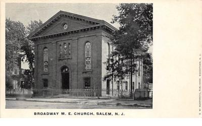 Broadway M. E. Church Salem, New Jersey Postcard