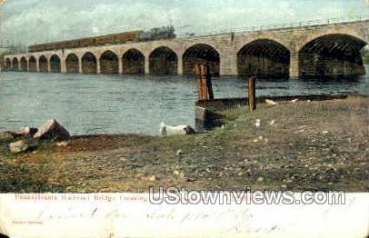 Penn Railroad Bridge - Trenton, New Jersey NJ Postcard