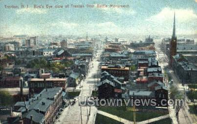 Battle Monument View - Trenton, New Jersey NJ Postcard