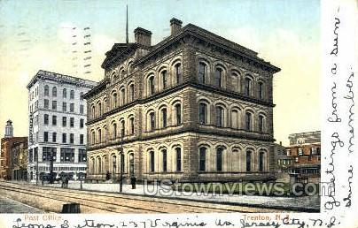 Post Office  - Trenton, New Jersey NJ Postcard
