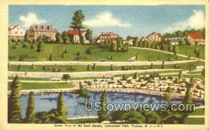 Rock Garden  - Trenton, New Jersey NJ Postcard