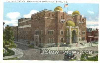 Crescent Shrine Temple - Trenton, New Jersey NJ Postcard