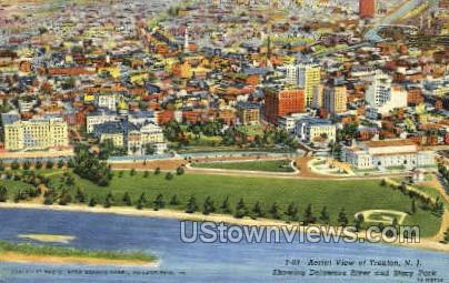 Aerial View - Trenton, New Jersey NJ Postcard