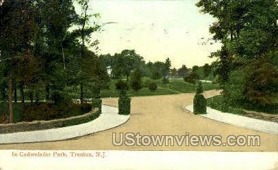 Cadwalader Park - Trenton, New Jersey NJ Postcard