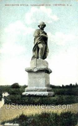 Washington Statue  - Trenton, New Jersey NJ Postcard