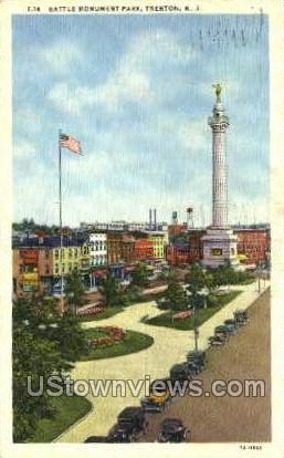 Battle Monument Park - Trenton, New Jersey NJ Postcard