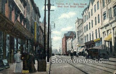 State Street - Trenton, New Jersey NJ Postcard