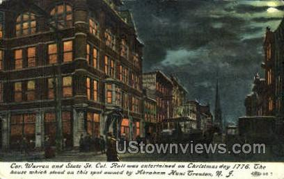 Cor. Warren And State St. - Trenton, New Jersey NJ Postcard