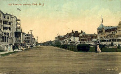 Forth Avenue - Asbury Park, New Jersey NJ Postcard