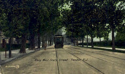 West State Street - Trenton, New Jersey NJ Postcard