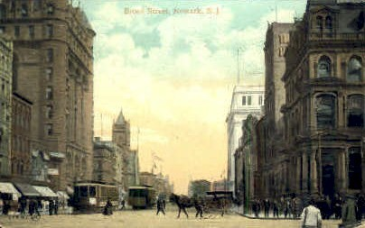 Broad Street - Newark, New Jersey NJ Postcard