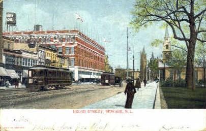 Broad Street - Newark, New Jersey NJ Postcard