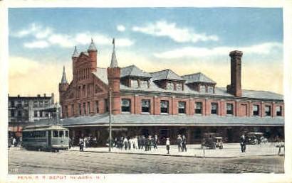 Penn R. R. Depot - Newark, New Jersey NJ Postcard