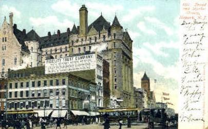 Broad Street, Fidelity Trust - Newark, New Jersey NJ Postcard