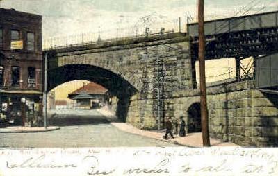 Penn Railroad Crossing - Elizabeth, New Jersey NJ Postcard