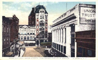 Broad Street - Elizabeth, New Jersey NJ Postcard
