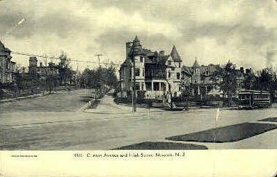 Clinton Avenue - Newark, New Jersey NJ Postcard
