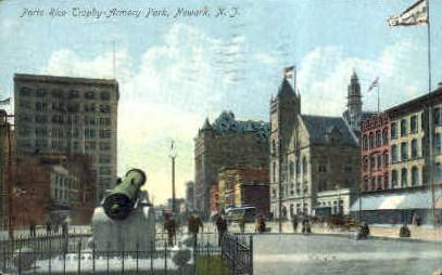 Trophy Armory Park - Newark, New Jersey NJ Postcard