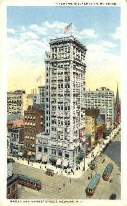 Firemen's Building - Newark, New Jersey NJ Postcard