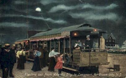 Electric Car - Ocean City, New Jersey NJ Postcard