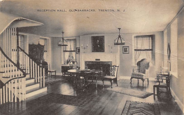 Reception Hall, Old Barracks Trenton, New Jersey Postcard