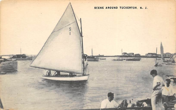 Scene Around Tuckerton New Jersey Postcard