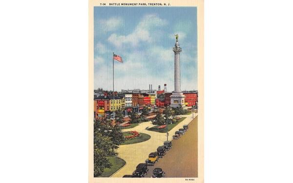 Battle Monument Park Trenton, New Jersey Postcard