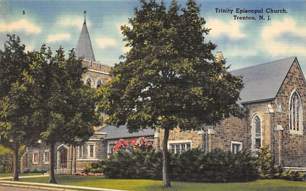 Trinity Episcopal Church Trenton, New Jersey Postcard