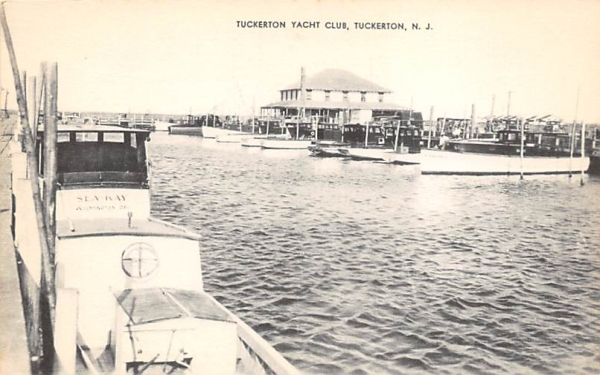 Tuckerton Yacht Club New Jersey Postcard