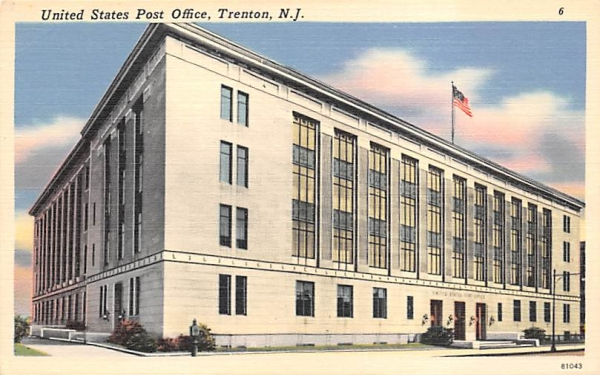 United States Post Office Trenton, New Jersey Postcard