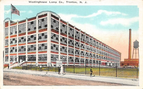 Westinghouse Lamp Co. Trenton, New Jersey Postcard