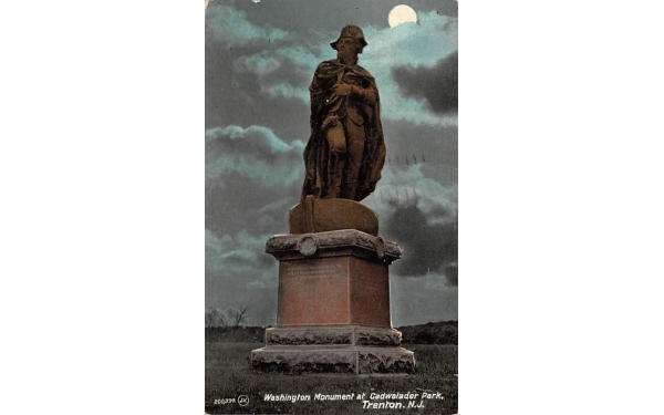 Washington Mounument at Cadwalader Park Trenton, New Jersey Postcard