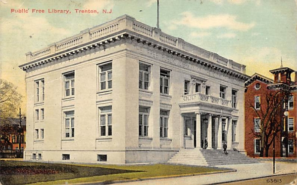 Public Free Library Trenton, New Jersey Postcard