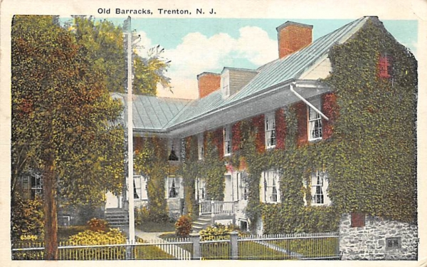 Old Barracks Trenton, New Jersey Postcard