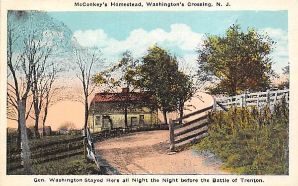 McConkey's Homestead, Washington's Crossing Trenton, New Jersey Postcard