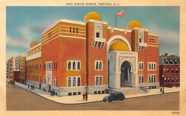 New Shrine Temple Trenton, New Jersey Postcard