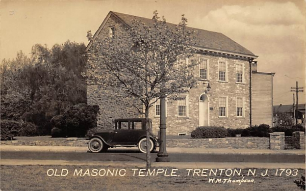 Old Masonic Temple Trenton, New Jersey Postcard