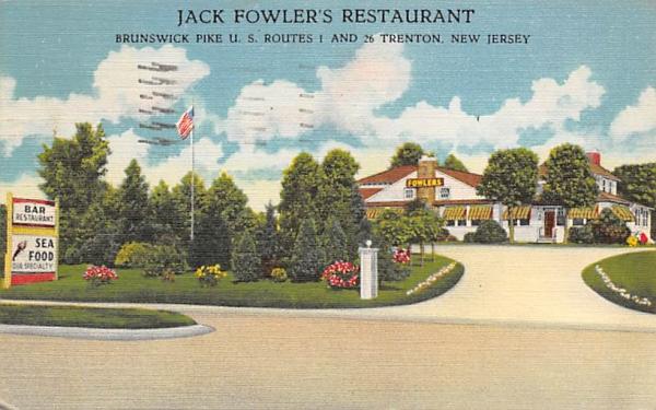 Jack Fowler's Restaurant Trenton, New Jersey Postcard