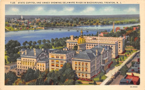 State Capitol and Annex showing Trenton, New Jersey Postcard