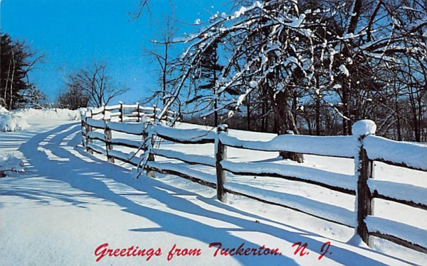 Shadows in the Snow Tuckerton, New Jersey Postcard