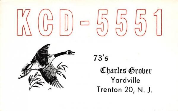 KCD - 5551 Trenton, New Jersey Postcard