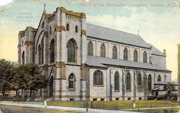 Church of the Immaculate Conception Trenton, New Jersey Postcard