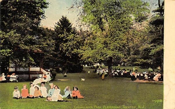 Cadwalader Park, Playground Trenton, New Jersey Postcard