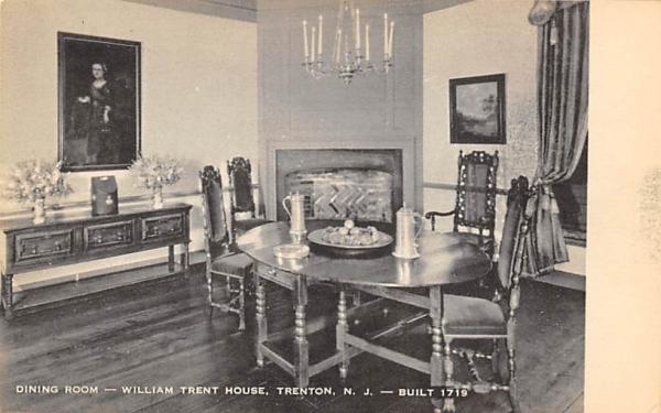 Dining Room-Willian Trent House Trenton, New Jersey Postcard
